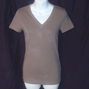 ** Gap Pure Short Sleeve V-Neck T-Shirt Deep Taupe
